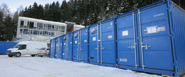 Lagercontainer bei den Olympischen Spielen