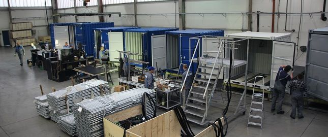 Lagercontainer Endmontage SK-CONT