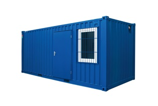 STORAGE CONTAINER with window and door
